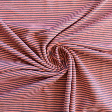 Bavlněný el. úplet – oranžovošedý