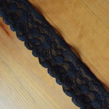 Krajka elastická – černá, šíře 5cm
