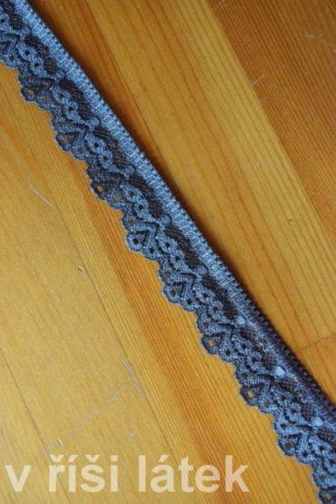 Krajka elastická – šedá, šíře 3 cm