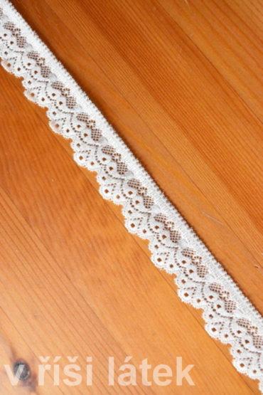 Krajka elastická – smetanová, šíře 3 cm