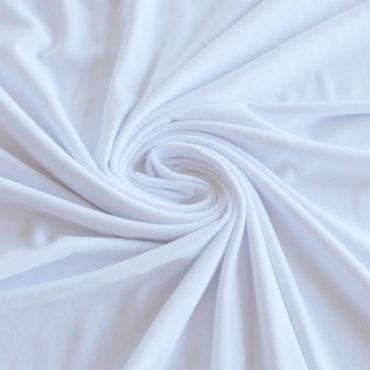 Micromodal + bavlna elastický – bílý
