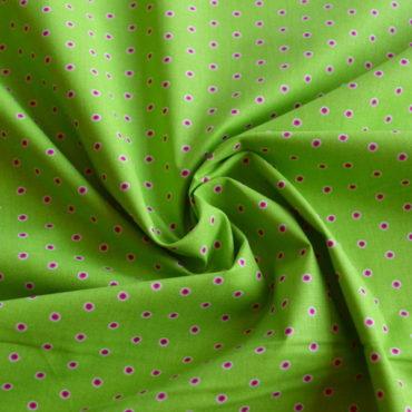Bavlněné plátno zelené očka STOF