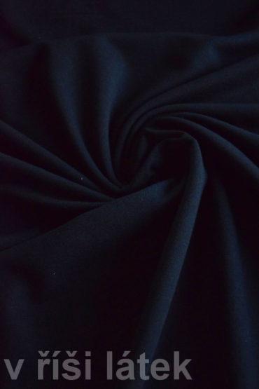 Teplákovina Micromodal elastická – černá