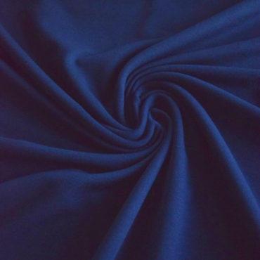 Teplákovina Micromodal elastická – tmavě modrá