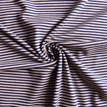 Bavlněný el. úplet – černobéžový