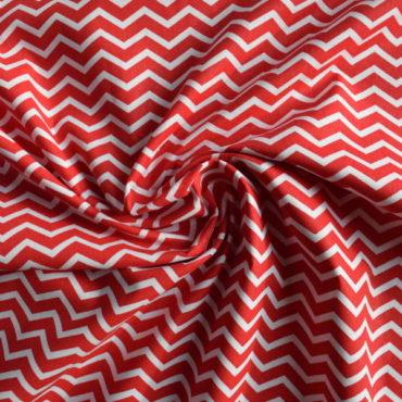 Bavlněné plátno extra jemné – chevron červený