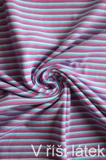 Bavlněný el. jednolíc – proužek barevný