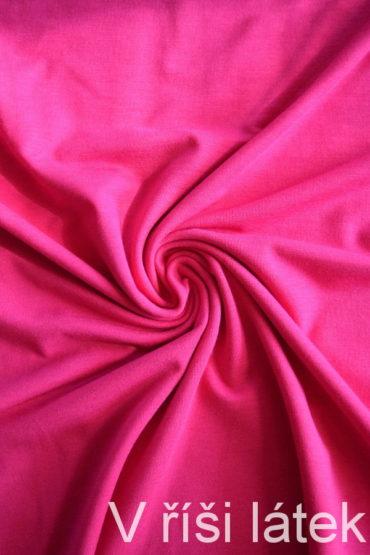 Jednolíc BAMBUS vis. elastický – růžový