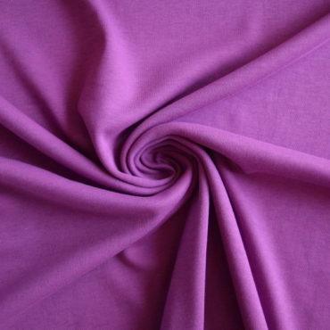 Bio bavlna oboulíc GOTS – purpurová