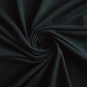 Bio elastický bavlněný úplet GOTS – černý