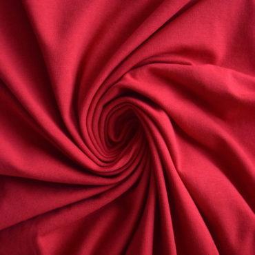 Bio elastický bavlněný úplet GOTS – červený