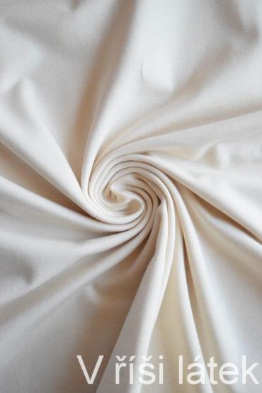 Bio elastický bavlněný úplet GOTS – smetanový