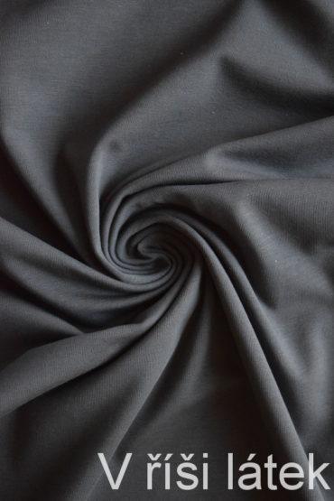 Bio elastický bavlněný úplet GOTS – šedý