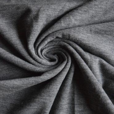 Jednolíc MERINO s elastanem šedý melír