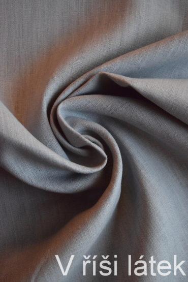 Len 100% praný – světle šedý 110 cm