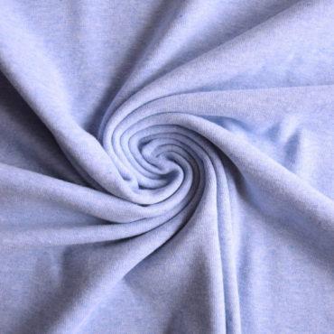 Bio bavlněný finerib ( patent ) GOTS – modrý melír