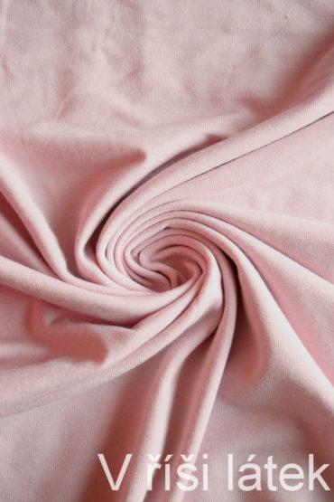 Micromodal + bavlna elastický – pudrově růžový 60 cm