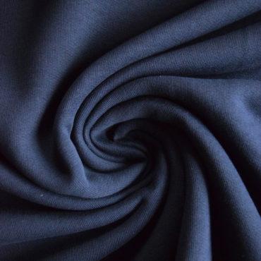 Bio 100% bavlněná teplákovina GOTS – navy