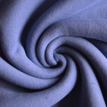 Bio 100% bavlněný fleece GOTS – středně modrý