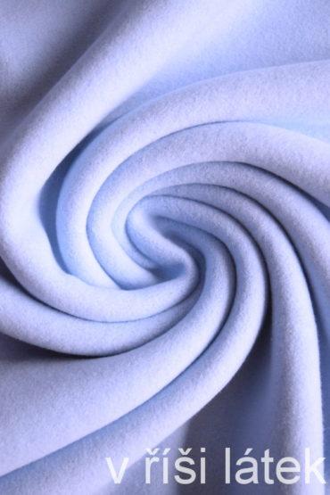 Bio 100% bavlněný fleece GOTS – světle modrý