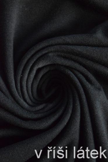 Jednolíc 100% MERINO černé 50 cm