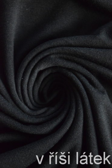 Finerib 100% MERINO černý 80 cm
