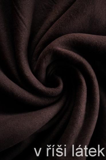 Bavlněný fleece – hnědý
