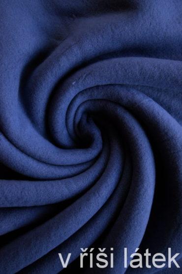 Bavlněný fleece – modrý