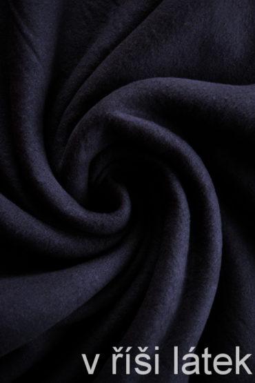 Bavlněný fleece – navy – tmavě modrý