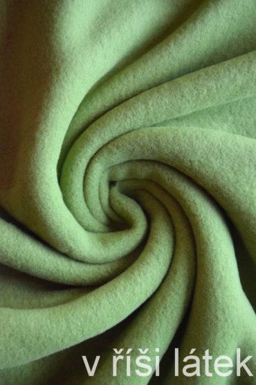 Bavlněný fleece – zelený