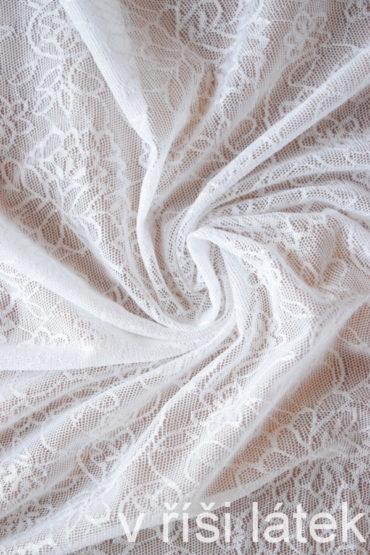 Něžná elastická krajka – bílá