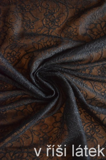 Něžná elastická krajka – černá