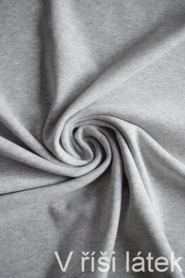 Bio bavlněný finerib ( patent ) GOTS – šedý melír