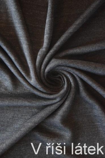 Jednolícní 100% lněná pletenina – melír antracit
