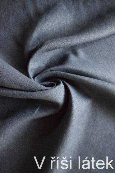 Len 100% tmavě modrý – navy 280 g