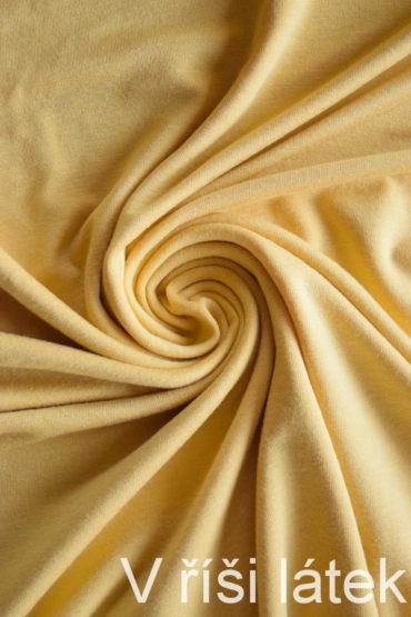 Jednolíc elastický TENCEL vis. – žlutý