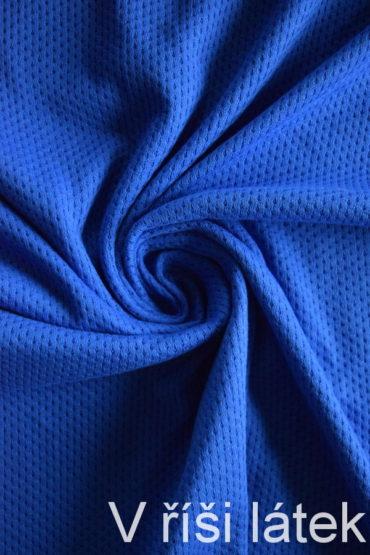 Jemný 100% bavlněný úplet dírkovaný – královsky modrý