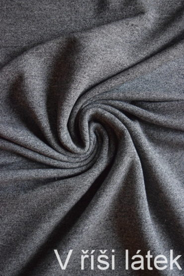 Teplákovina BAMBUS vis. elastická – mourek tmavý