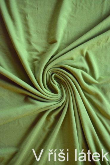 Jednolíc BAMBUS vis. elastický – kiwi zelený