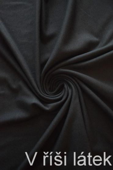 Teplý bambus. vis. elastický jednolíc počesaný – černý