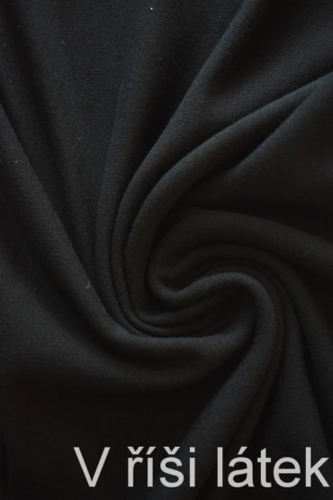 Teplákovina BAMBUS vis. el. – černá – 1 metr