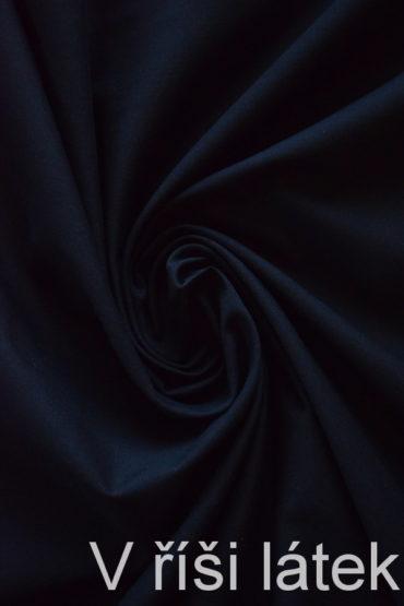 Popelín 100% bio bavlna GOTS – černý