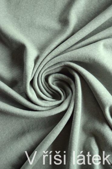 Jednolícní lněná vis. pletenina – khaki