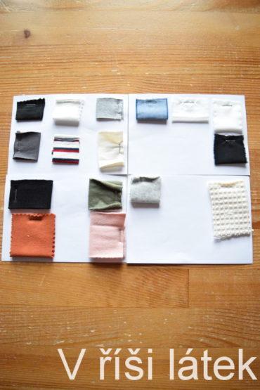 Barevnice – vzorník bio bavlna GOTS