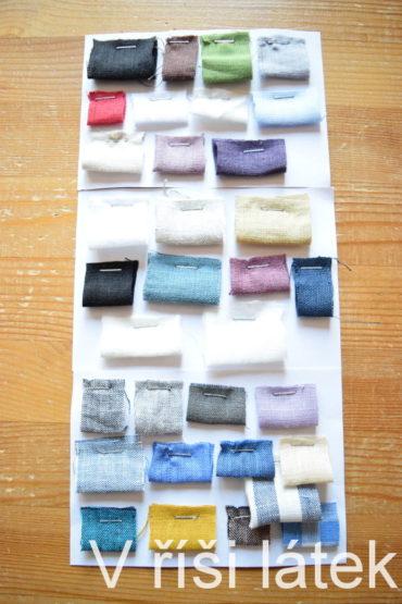 Barevnice – vzorník lněných tkanin