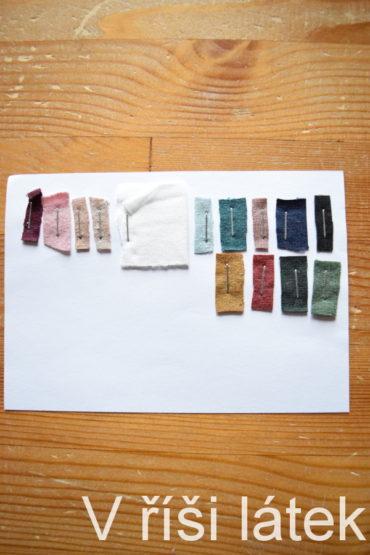Barevnice – vzorník tencel viskózy – úplet