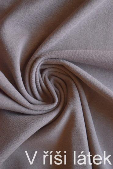 Hladký bavlněný elastický náplet – kapučíno