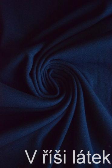 100% Bavlněný hladký náplet – tm.modrý