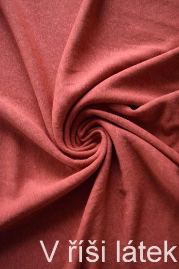 Jednolícní lněná vis. pletenina – skořice